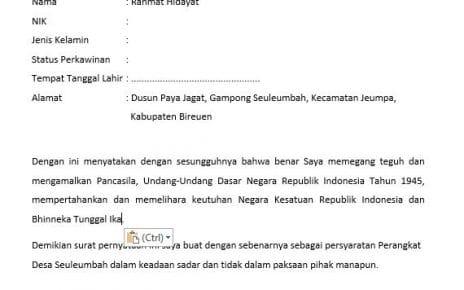 Contoh Surat Permohonan Buka Rekening Bank Media Desa
