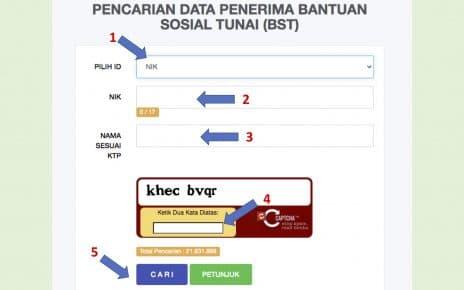 Cara Cek Data Penerima BST Online