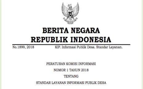 Peraturan Komisi Informasi Nomor 1 Tahun 2018